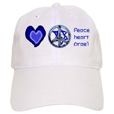 PEACE HEART ISRAEL / JEWISH Baseball Cap