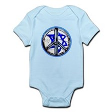 PEACE HEART ISRAEL / JEWISH Infant Bodysuit