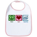 Peace Love Aquarius Bib