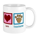 Peace Love Veterinarian Mug