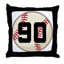 Baseball Player Number 90 Team Throw Pillow