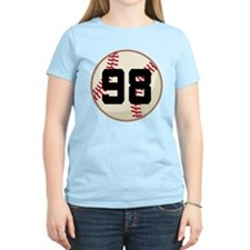 Baseball Player Number 98 Team T-Shirt