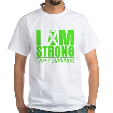 Strong Non-Hodgkins Lymphoma White T-Shirt