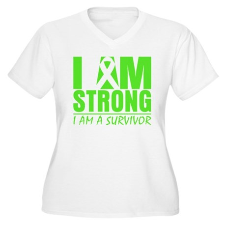 Strong Non-Hodgkins Lymphoma Women's Plus Size V-N