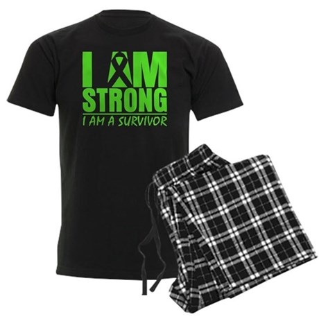 Strong Non-Hodgkins Lymphoma Men's Dark Pajamas