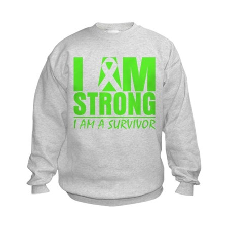 Strong Non-Hodgkins Lymphoma Kids Sweatshirt