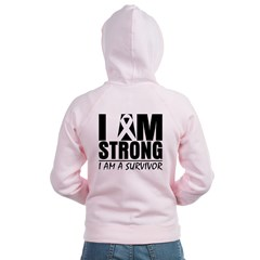 I am Strong Melanoma Women's Zip Hoodie