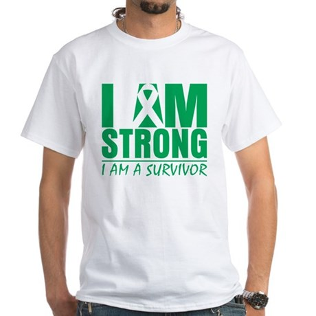 I am Strong Liver Cancer White T-Shirt