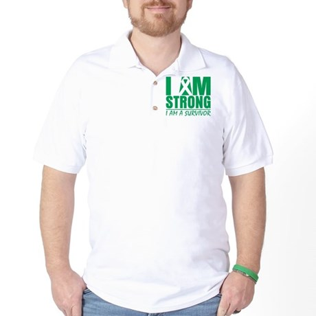 I am Strong Liver Cancer Golf Shirt