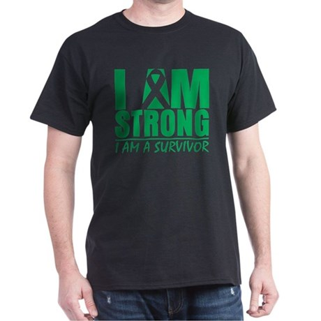 I am Strong Liver Cancer Dark T-Shirt