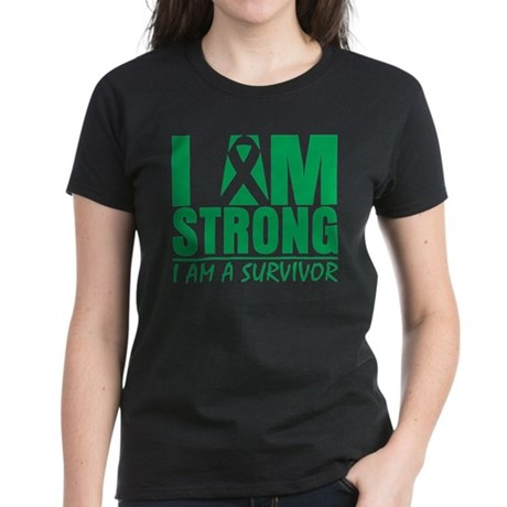 I am Strong Liver Cancer Women's Dark T-Shirt