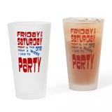 I Party Pint Glass