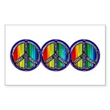 PEACE HEART GAY PRIDE Decal