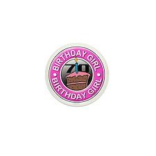 Birthday Girl 70 Years Old Mini Button