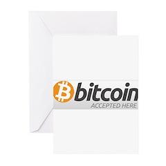 Bitcoins-7 Greeting Cards (Pk of 10)