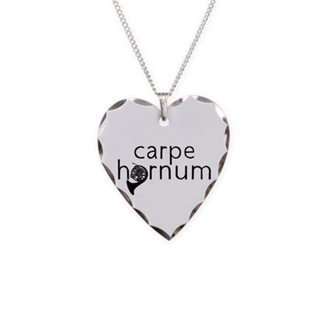 Carpe Hornum Necklace Heart Charm