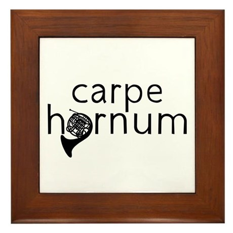 Carpe Hornum Framed Tile