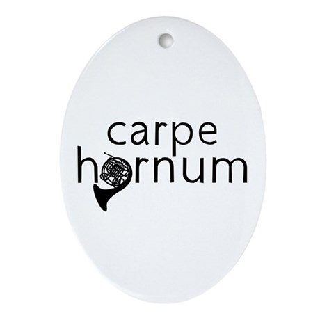 Carpe Hornum Ornament (Oval)