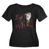 """Say When"" Women's Plus Size Scoop Neck Dark T-Shi"