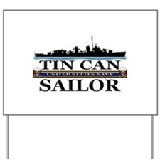 USN Tin Can Sailor Silhouette Yard Sign