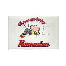 Awesome Being Romanian Rectangle Magnet (100 pack)