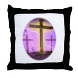 &quot;SAVED!&quot; Crosses Throw Pillow