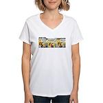 0220 - Better and safer Women's V-Neck T-Shirt