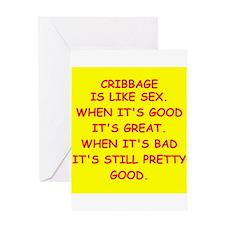 cribbage Greeting Card