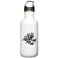 GSD Black and White collage Water Bottle