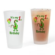 1st Birthday Dinosaur Pint Glass