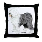 Old English Sheepdog Throw Pillow