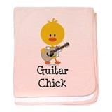 Guitar Chick baby blanket