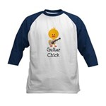 Guitar Chick Kids Baseball Jersey