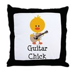 Guitar Chick Throw Pillow