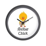 Guitar Chick Wall Clock