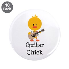 "Guitar Chick 3.5"" Button (10 pack)"