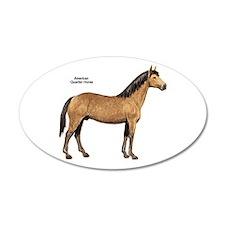American Quarter Horse 22x14 Oval Wall Peel