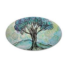 Tree, Colorful, 22x14 Oval Wall Peel