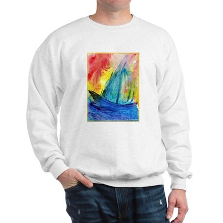 Sailboat, colorful, Sweatshirt
