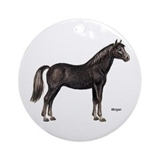Morgan Horse Ornament (Round)