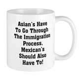Asian Immigration Small Mug