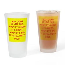 i love mahjong Pint Glass