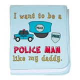 Want To Be A Police Man baby blanket