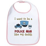 Want To Be A Police Man Bib