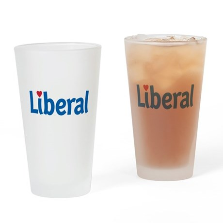 Liberal Heart Pint Glass