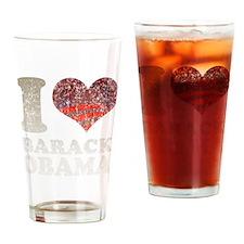 I heart/rising sun Barack Oba Pint Glass