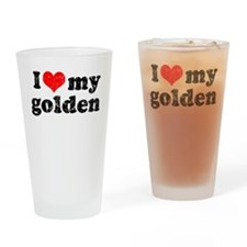 I love my Golden Retriever Pint Glass