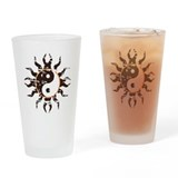 Yin Yang Tribal Sun Pint Glass