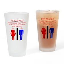 funny math statistics Pint Glass