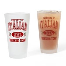 Italian Drinking Team Pint Glass